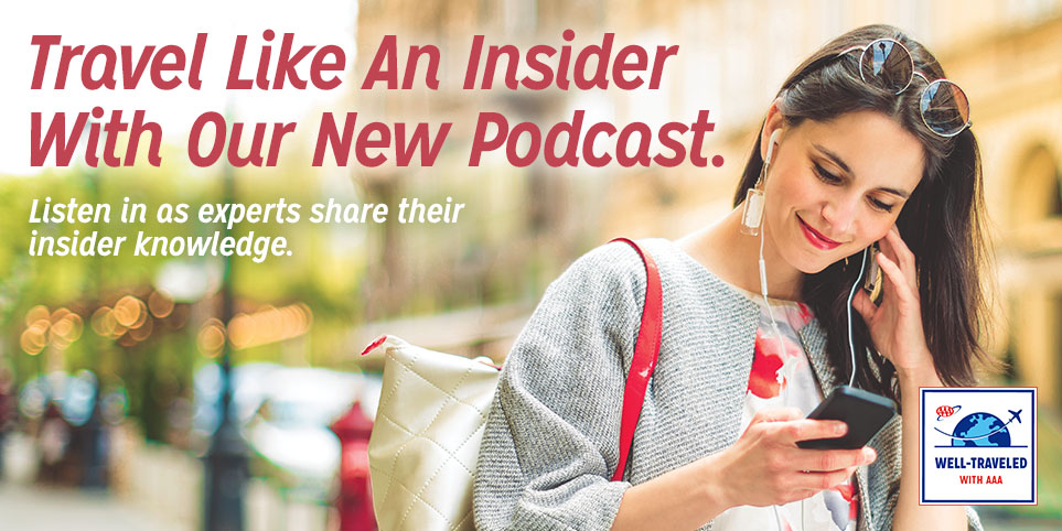 Listen to our podcast for expert travel knowledge