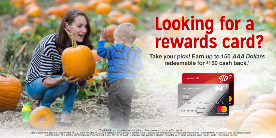 Get a AAA Dollars Rewards Credit Card